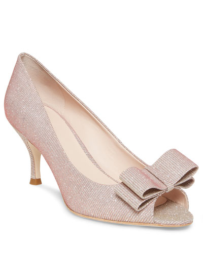 Cecilia Metallic Bow Pumps