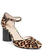 kate spade new york serene leopard block-heel pumps