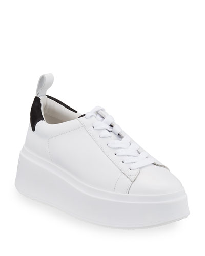 Moon Platform Chunky Sneakers, White/Black