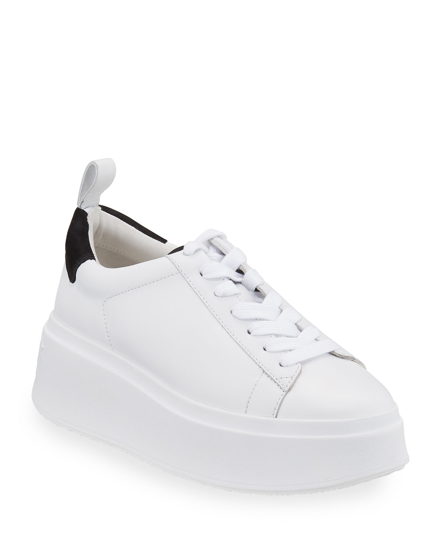 Moon Platform Chunky Sneakers, White/Black