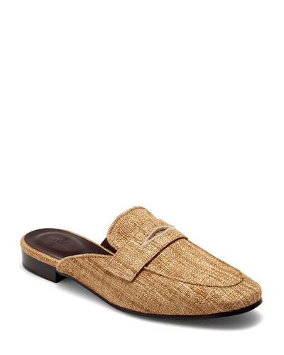 Penny Loafer Slip-On Mules