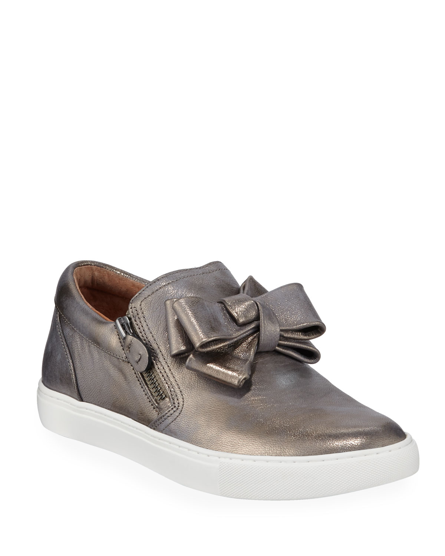 Hale Ribbon Metallic Slip-On Sneakers