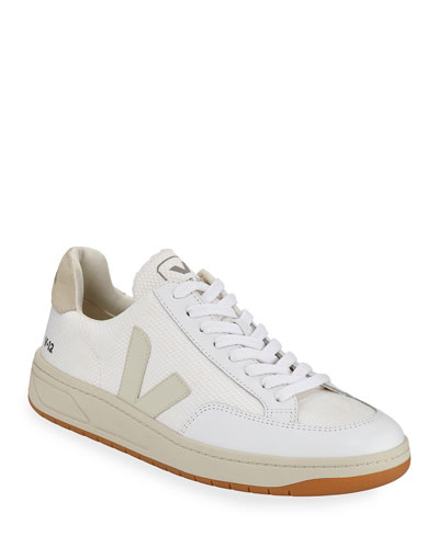 V 12 Perforated Leather Low-Top Sneakers