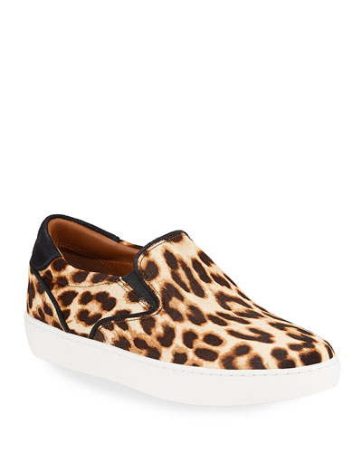 Slip-On Leopard Calf Hair Sneakers