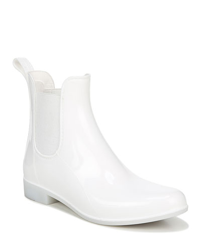 Tinsley Gored Short Chelsea Rain Boots, White