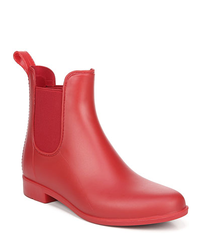 Tinsley Gored Short Chelsea Rain Boots, Red