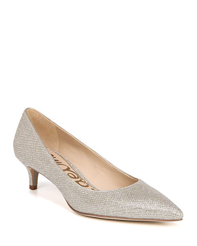 Dori Glitter Fabric Pumps