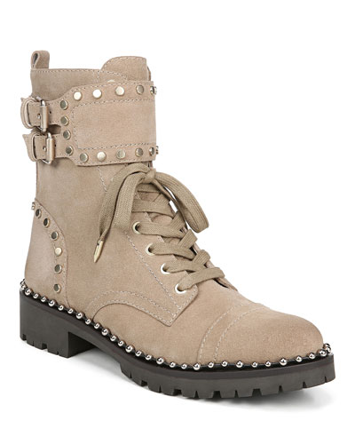 Jennifer Studded Combat Boots
