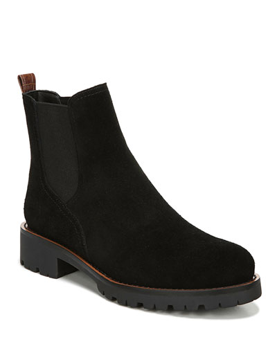 Jaclyn Suede Gored Boots, Black