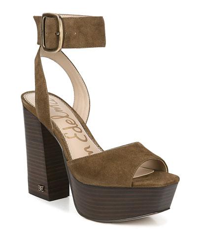 Rain Suede Platform Sandals