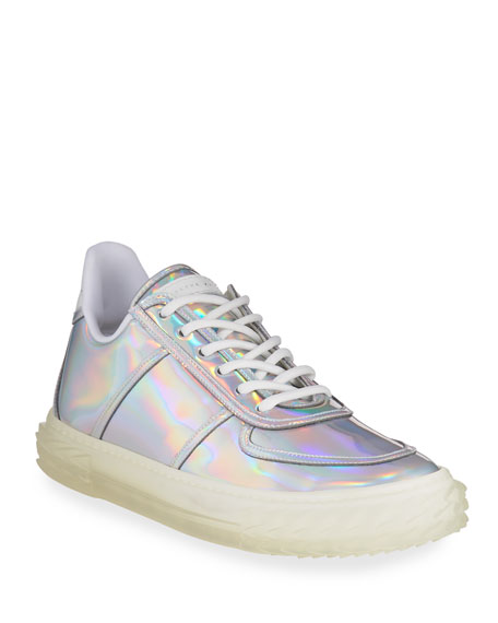 Giuseppe Zanotti Iridescent Leather Lace-Up Sneakers