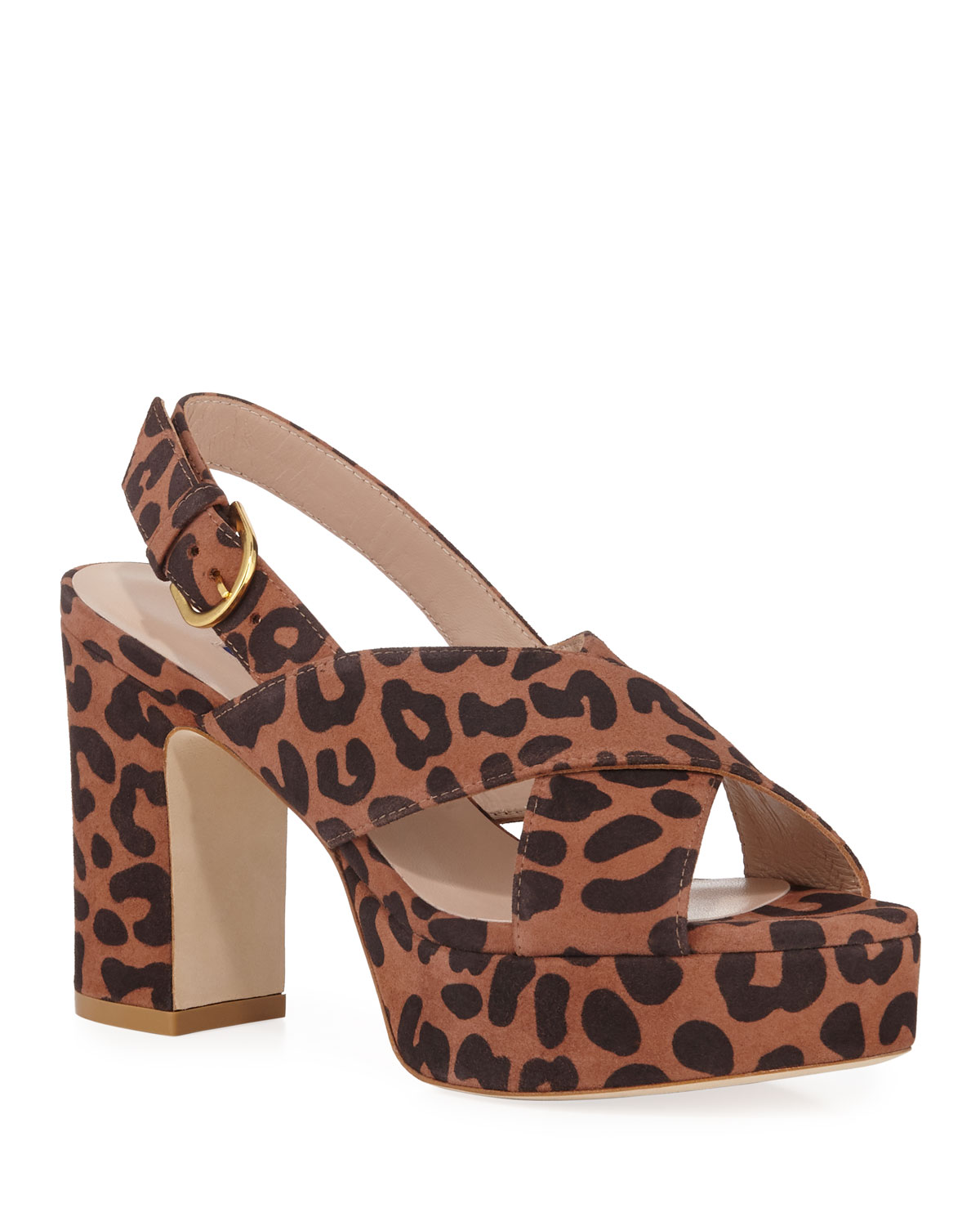 Jerry Cheetah Suede Sandals