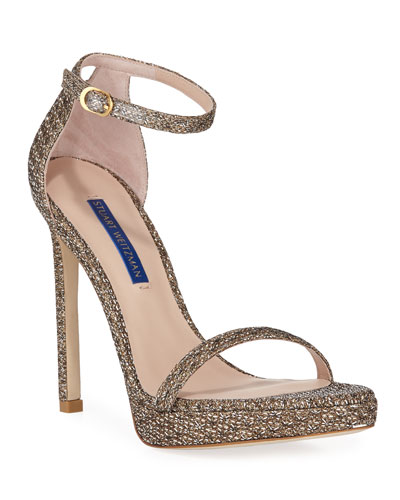 Nudist Disco Metallic Sandal