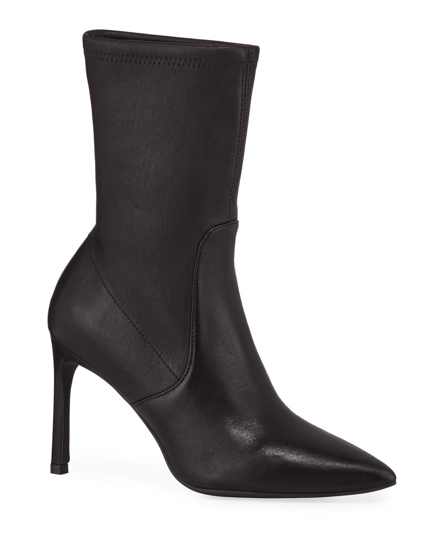 Wren Leather Sock Booties