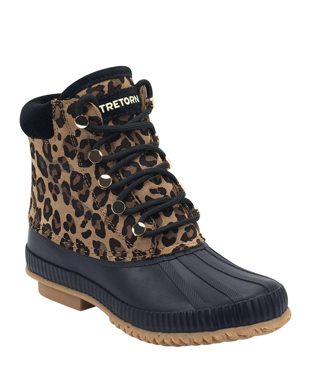 Tretorn Boots ROKA LEOPARD SUEDE BOOTIES