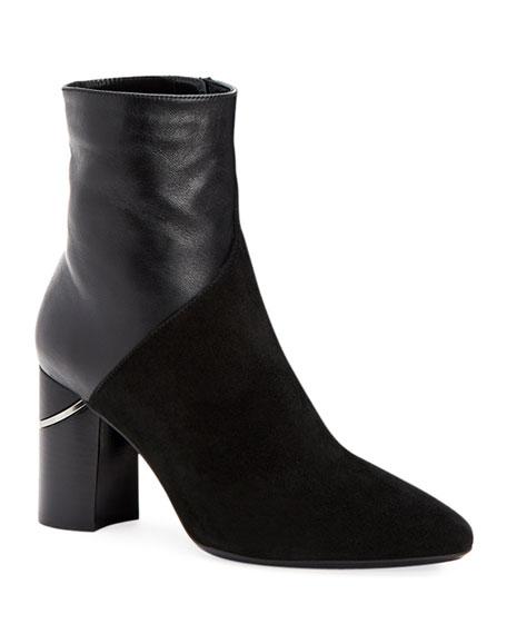 Aquatalia Palma Leather and Suede Booties