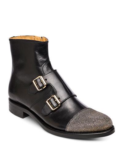 Mr. Dean Leather Monk Boots