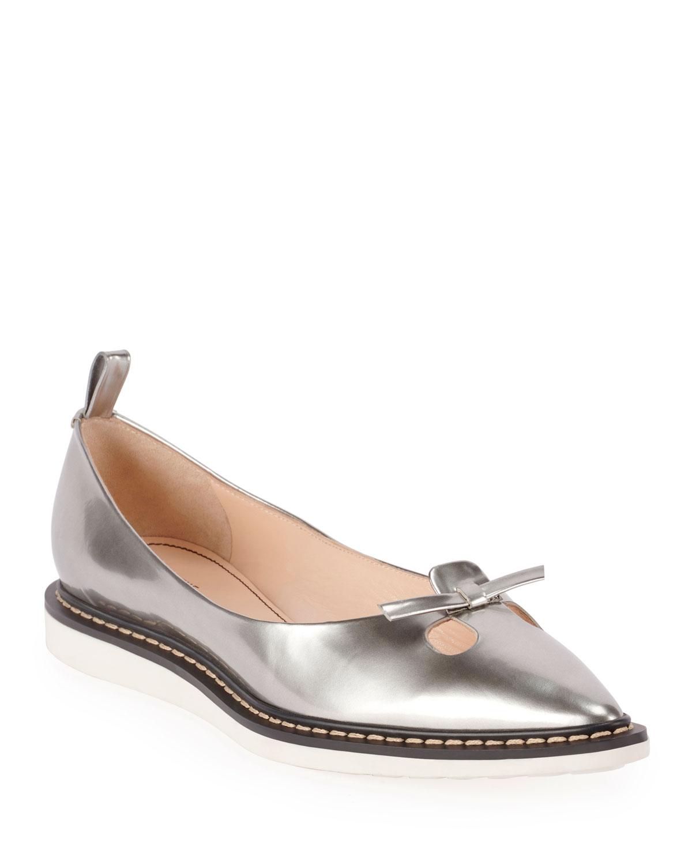 The Mouse Metallic Ballet Flats