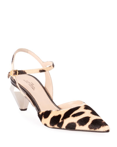 The Slingback Leopard Pumps