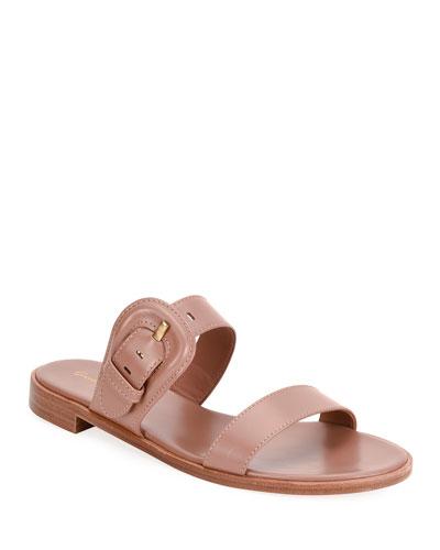 Flat Buckle Slide Sandals