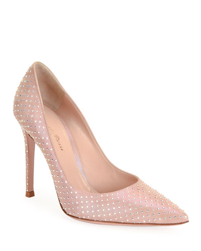 Crystal Pointed High-Heel Pumps