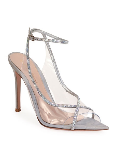 Gianvito Rossi Open-Toe Strass Sandals
