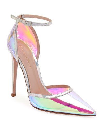 Hologram Pointed Ankle Pumps