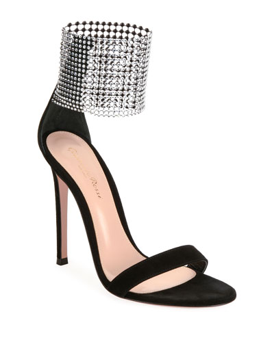 High Sandals with Crystal Cuff