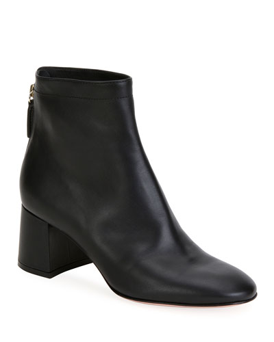 Soft Leather Chunky Booties