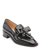 Christian Louboutin Carmela Patent Red Sole Loafers