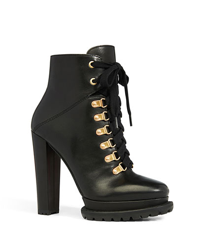 Jensa Lace-Up Booties