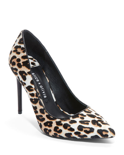 Creda Leopard Calf Hair Pumps