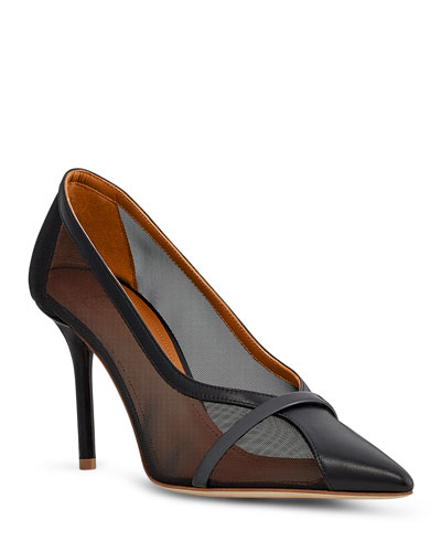 Brook 85mm Sheer Mesh Stiletto Pumps