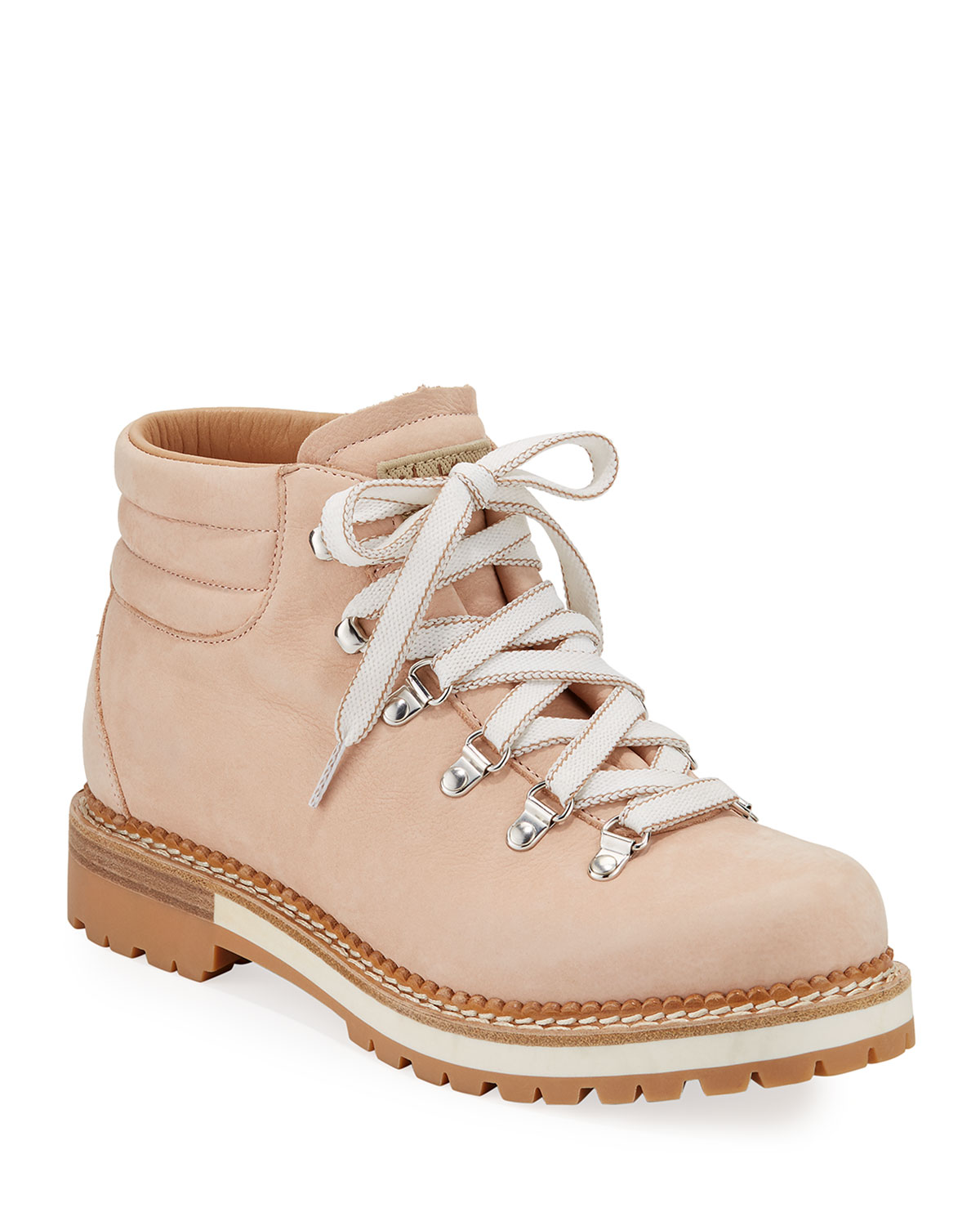Marlena Leather Lace-Up Boots