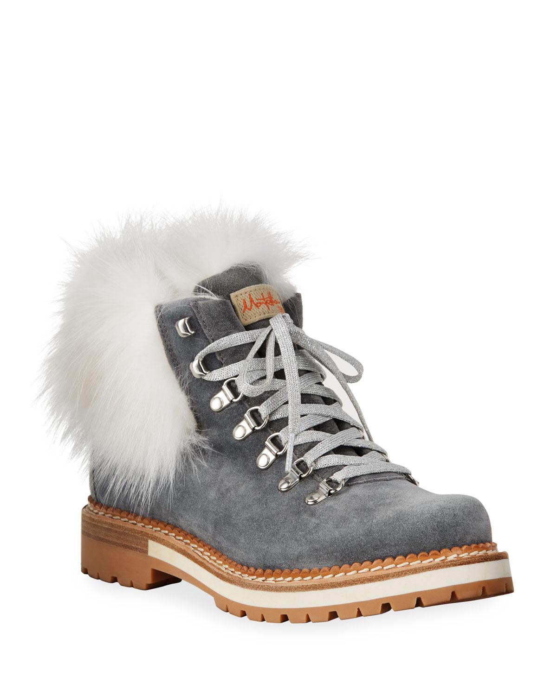 Clara Boots with Fox Fur