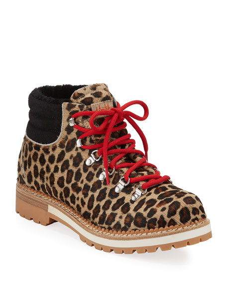 Montelliana 1965 Marlena Leopard Calf Hair Boots
