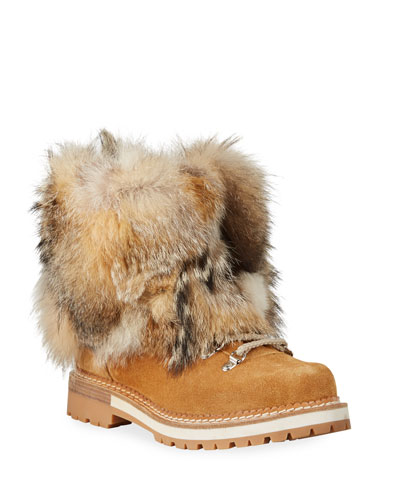 Seicento Fox Fur Chunky Boots
