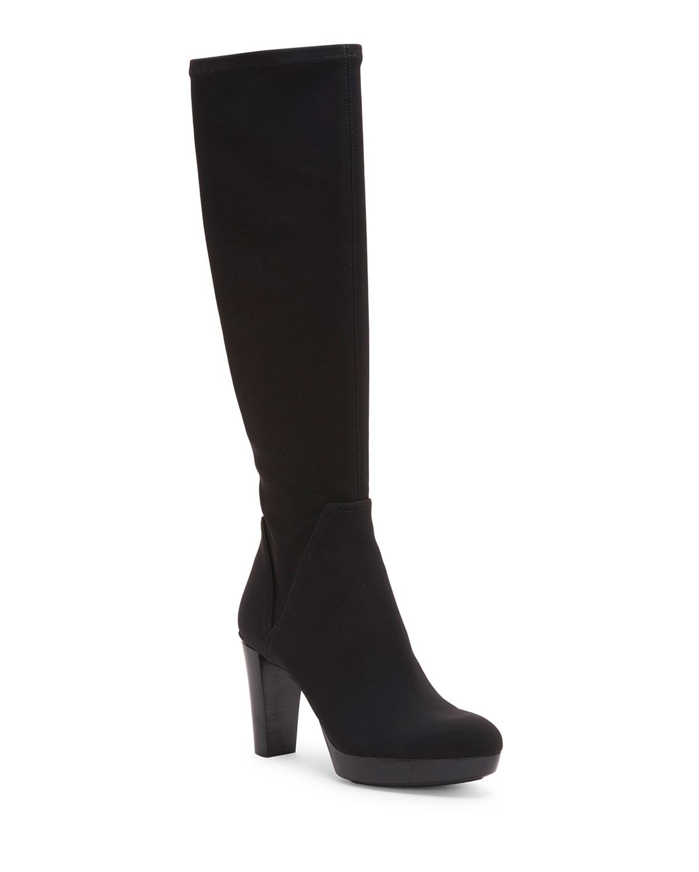 Echoe Platform Crepe Knee Boots
