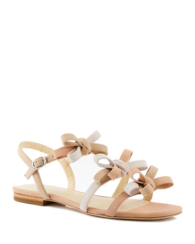 Nikita Flat Colorblock Suede Sandals