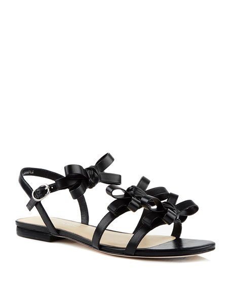 Isa Tapia Nikita Flat Leather Sandals