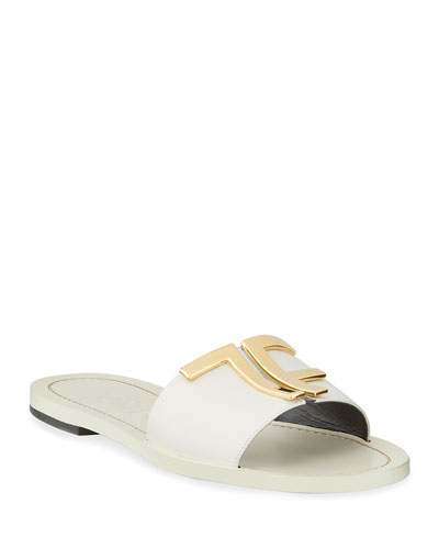 TF Suede Flat Sandals