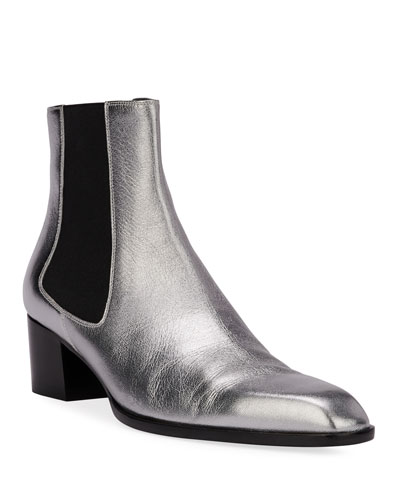 Metallic Pull-On Booties