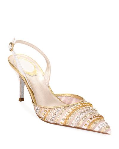 Rene Caovilla Gold Shoes | Neiman Marcus