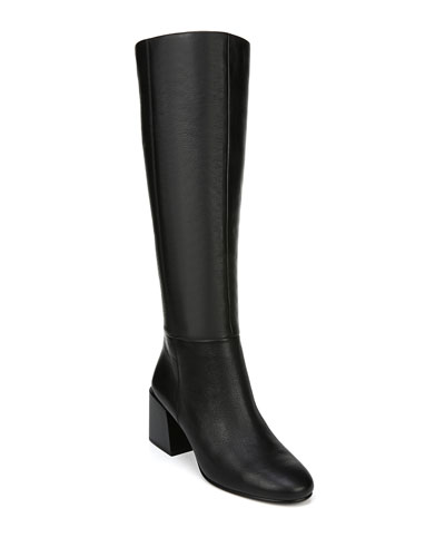 Desi Leather Knee Boots