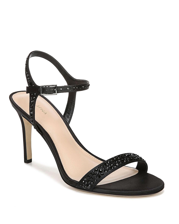 Madeleine Studded Satin Sandals