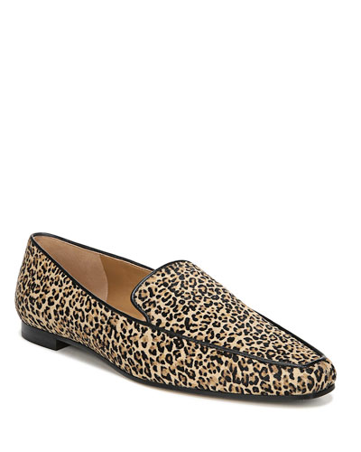 Aylee Leopard Calf Hair Loafers