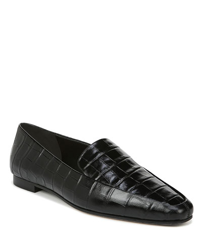 Aylee Flat Croco Loafers