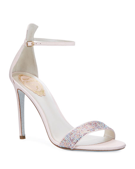 Rene Caovilla Powder Crystal Snake Sandals