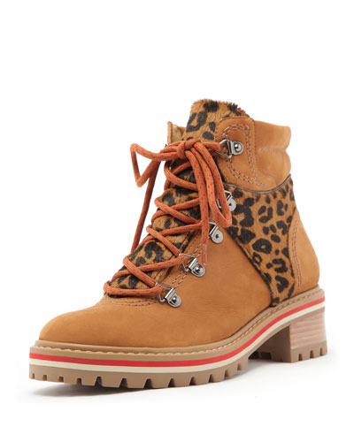 Keida Hiker Boots with Leopard Detail