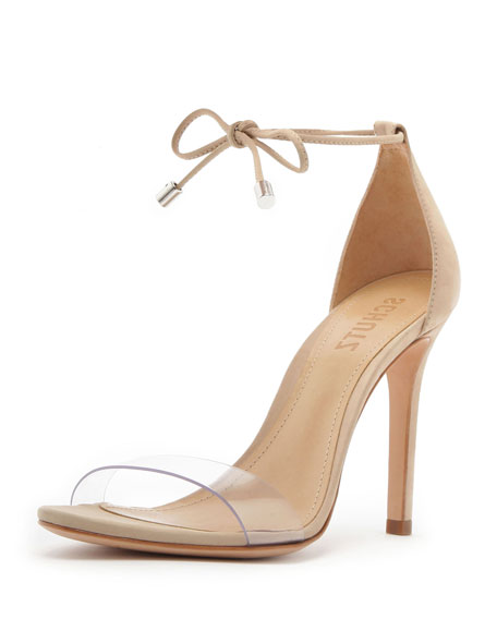 Schutz Josseana Leather Ankle-Tie Sandals